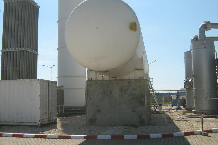 Fabrica de preparare aer SG Călăraşi Sistem de fundare stocator