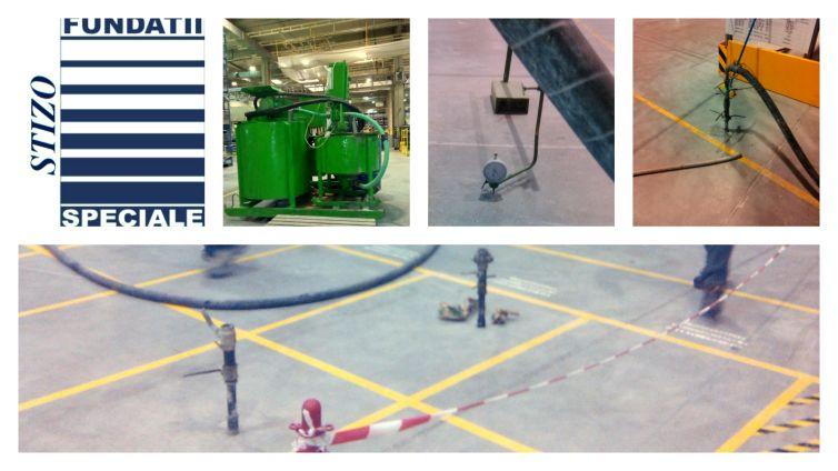 """Injectare cu suspensie stabila ciment-bentonita pentru stabilizarea terenului de sub pardoseala la obiectivul ,,I.A.C. Bals"""""""